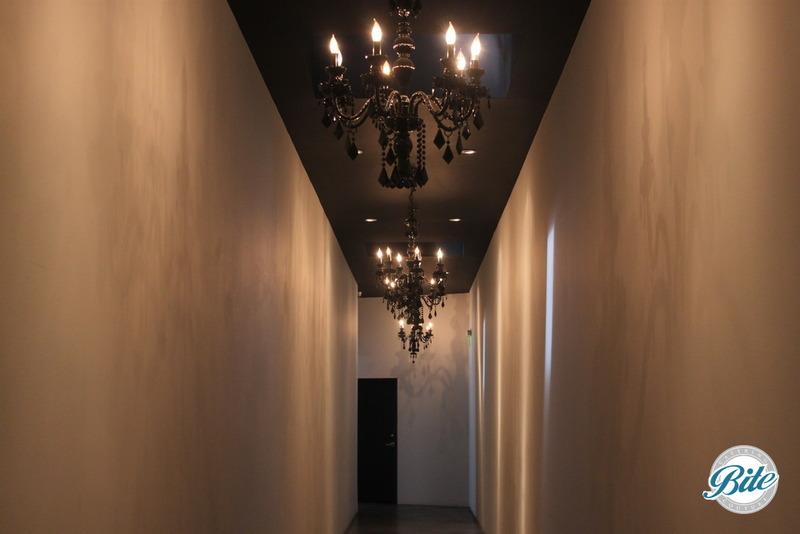 BookBindery Hallway Chandeliers